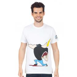 Planet Superheroes - Johnny Bravo - The Love Machine White T-Shirt