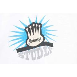 Planet Superheroes - Johnny Bravo - The Love Machine White T-Shirt 4