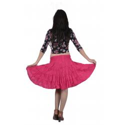 Uttam Cotton Plain Pink  Color  Short Tyre Skirt 3