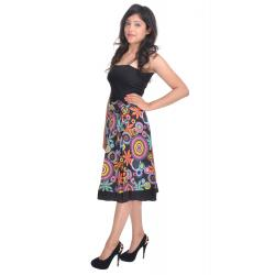 Uttam  Cotton Printed Black Color  Skirt 1
