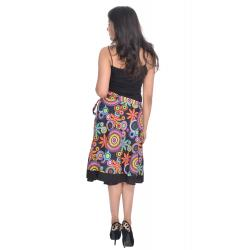 Uttam  Cotton Printed Black Color  Skirt 2