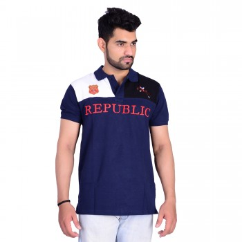 HB REPUBLIC Fancy Polo Collar Half Sleeve T- shirt 2