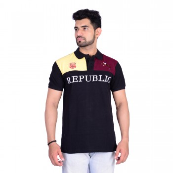 HB REPUBLIC Fancy Polo Collar Half Sleeve T- shirt 3