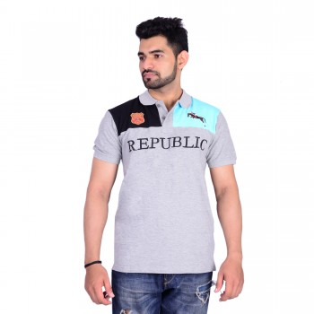HB REPUBLIC Fancy Polo Collar Half Sleeve T- shirt 4