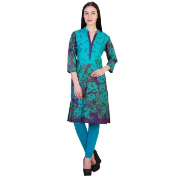 ilma Multi colored Floral Print Cotton Kurti
