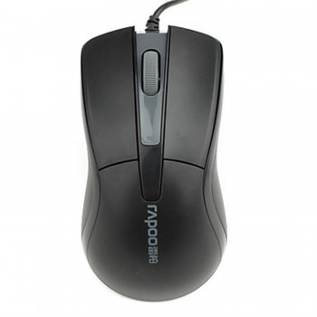 Rapoo-Wired-USB-Mouse-N1162-Black