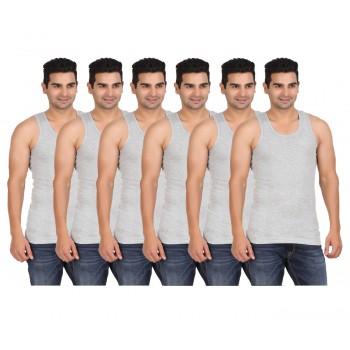 Lyril Men's Classic Rib G.Melange Vest Size: 95-100