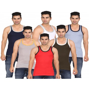 Lyril Men's Jungfrau Multi_Colour Gym Vest (size 95-100