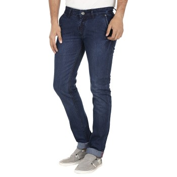 El'monde Men's Medium Waist Blue Denim Jeans Size 30-36 1