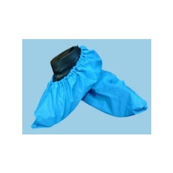 Shoe cover Blue plastic elastic  version pack of 100
