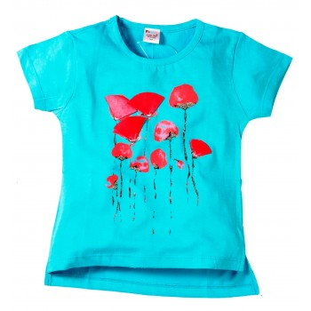 Young Ones Flower Print Top for Girls Size age 2 to 6 yrs
