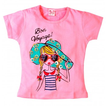 Young Ones Girl Print with Sequin Tee sizes age 2 to 6 years 2