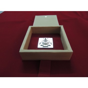 ENERGIZED SILVER PLATED 3D SHREE SRI YANTRA / MANDALA / 3 Inch 2