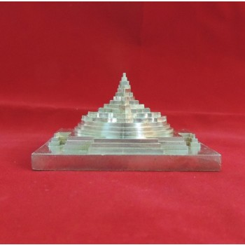 ENERGIZED SILVER PLATED 3D SHREE SRI YANTRA / MANDALA / 3 Inch 3