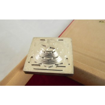 ACCURATE AND PRECISE 3D SILVER PLATED MAHA MRITYUNJAYA YANTRA