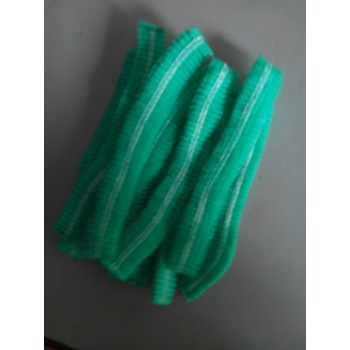 Bouffant caps /frill cap Green colour non vowen pack of 100 1