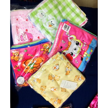 Trendy girls Cotton mix Printed Kids napkins 10x10 cms