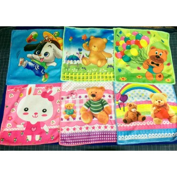 Trendy girls Cotton mix Printed Kids napkins 10x10 cms 2