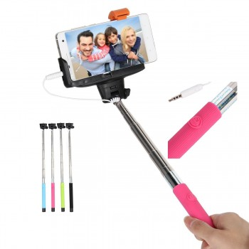 Compact Pocket Size Selifie Stick cable Take Pole for iPhone and Android 1