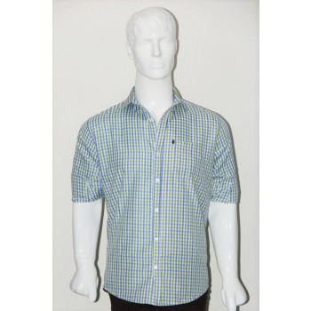 JHE Wrinkle Free Green Colour Casual Check Shirt Size 40