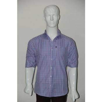 JHE Wrinkle Free Sky blue Colour Casual Check Shirt Size 38