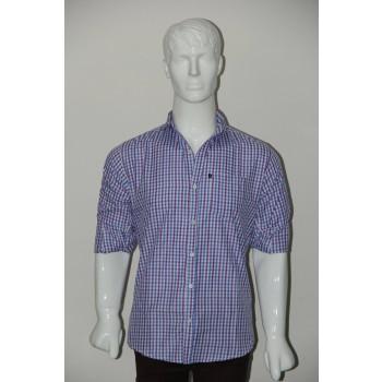 JHE Wrinkle Free Sky blue Colour Casual Check Shirt Size 40