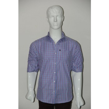 JHE Wrinkle Free Sky blue Colour Casual Check Shirt Size 42