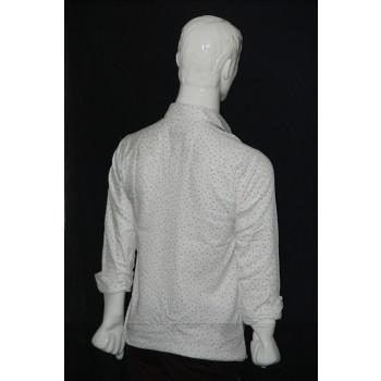 JHE Cotton White Colour Casual Print Shirt Size 40 1