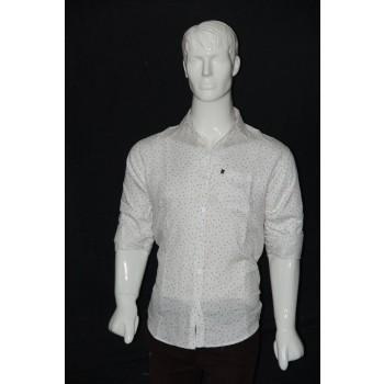 JHE Cotton White Colour Casual Print Shirt Size 42