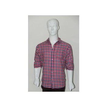 Adam Smith Cotton Red Colour Casual Check Shirt Size 42