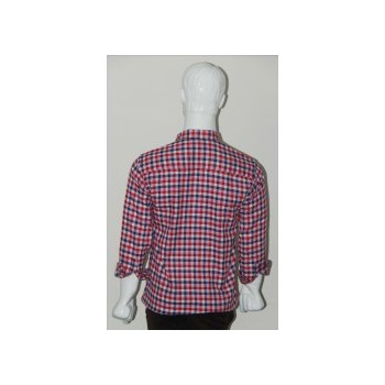 Adam Smith Cotton Red Colour Casual Check Shirt Size 40 1