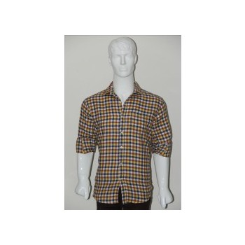 Adam Smith Cotton Golden Colour Casual Check Shirt Size 42