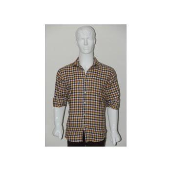 Adam Smith Cotton Golden Colour Casual Check Shirt Size 40