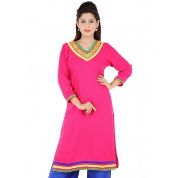 RTF Pink Rayon Stylish women kurtis Size XXL