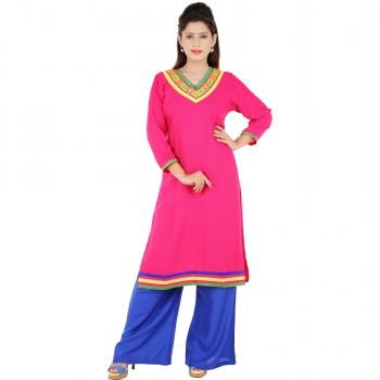 RTF Pink Rayon Stylish women kurtis Size XXL 1