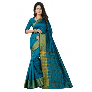 Pearl fashion Kota silk saree with Zari border