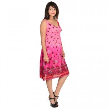 Wardtrobe Beautiful stylish Sleeveless cotton Long Dress 1