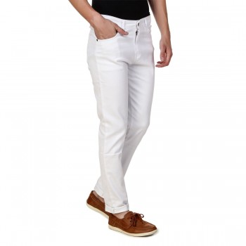 HALTUNG MENS SLIM FIT JEANS WHITE-30 1
