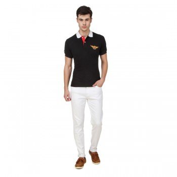 HALTUNG MENS SLIM FIT JEANS WHITE-30 2