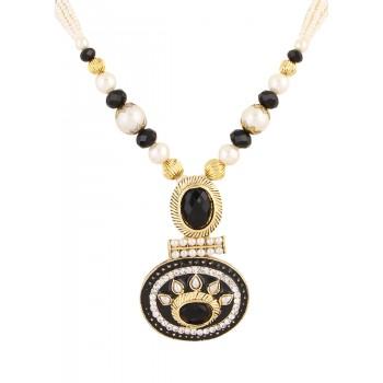 Adoreva Black Pearl Pendant Earrings Set for Women 387 1