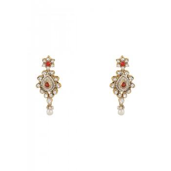 Adoreva Bridal Pearl Kundan Necklace Set for Women 361 2