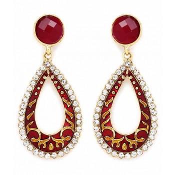 Adoreva Red Earrings for Women 303