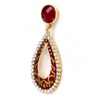 Adoreva Red Earrings for Women 303 1