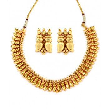 Adoreva Gold Plated Necklace Earrings Set for Women 285