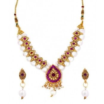Adoreva Purple Pendant Earrings Set for Women 277