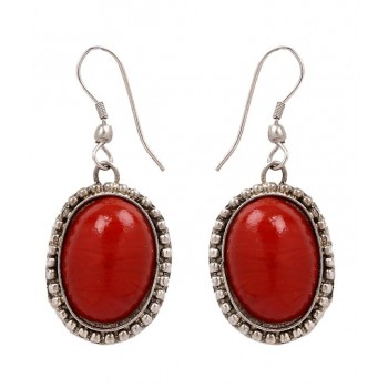 Adoreva Red Statement Necklace Earrings Set for Women 255 4