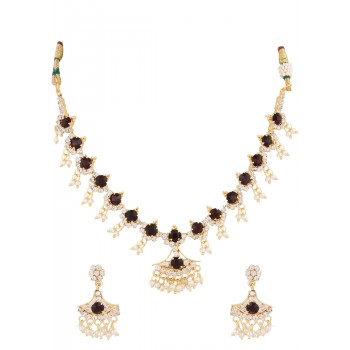 Adoreva Purple Necklace Earrings Ring Set for Women 235 1