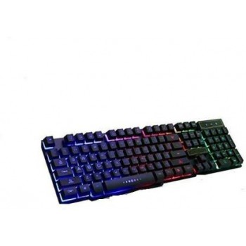 Tech-Com RAINBOW 999 WIRED KEYBOARD Wired USB Gaming Keyboard  (Black)