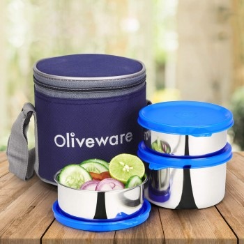 Oliveware Lovely Stylo Lunch Box | Stainless Steel Containers 1