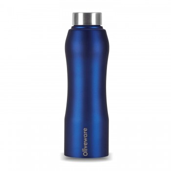 Oliveware Sparrow Steel Bottle   750 Ml (Blue)